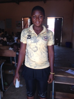 Gunwagre graduate Mary is on her way to Paga High School.